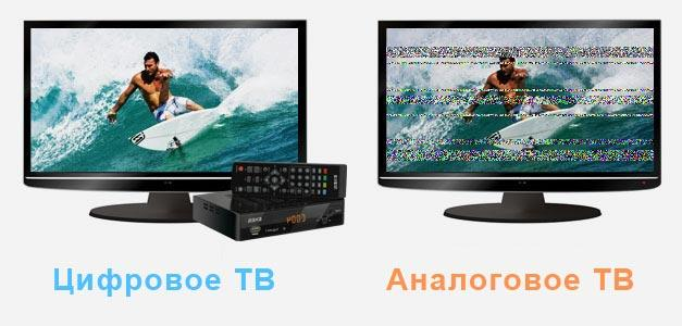Аналоговое ТВ - отличия от цифрового