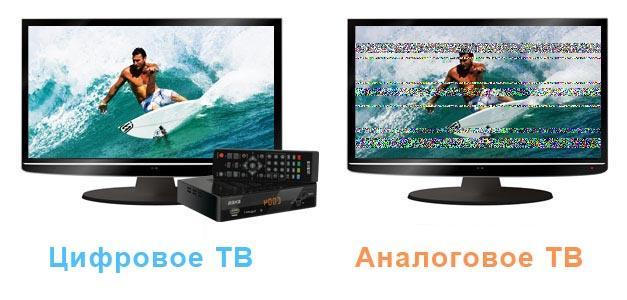 Сравнение картинки цифрового и аналогового ТВ