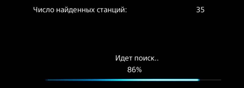 Настройка каналов на SONY-4