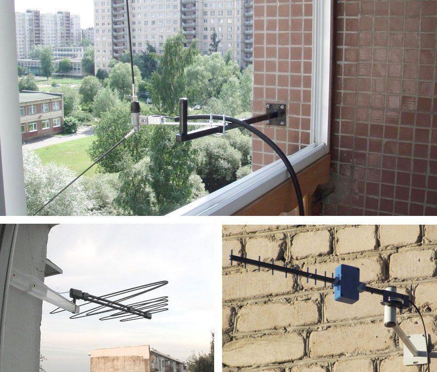 Крепление антенны к стене