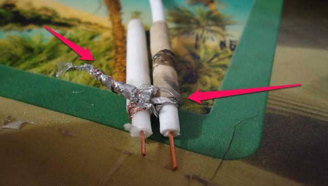 Соединение кабелей на скрутке
