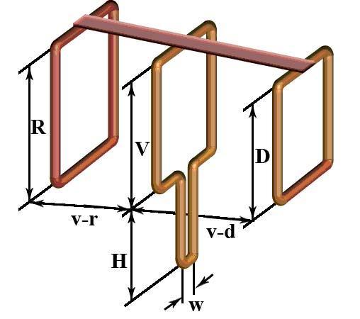 """Схема антенны """"Тройной квадрат"""""""