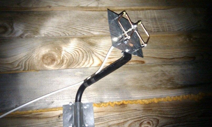 Биквадратная антенна для телефона